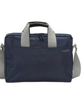 Bugatti Jason Briefcase 498556405 Blue Front1