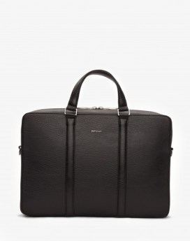 Matt and Nat Harman Briefcase Dwell Collection Black Front