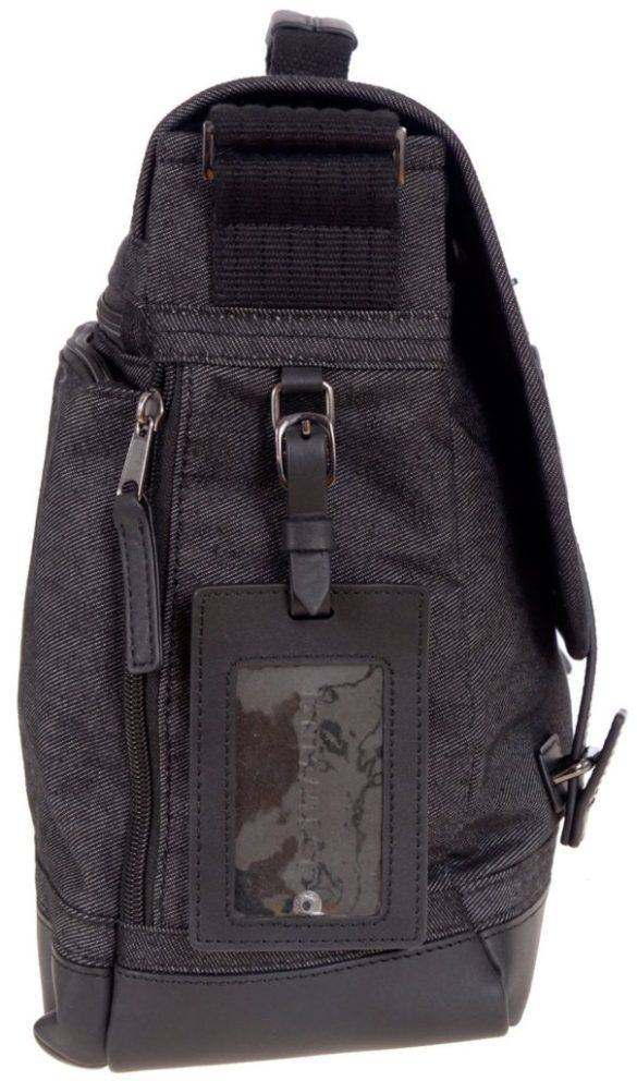 Renwick Messenger Shoulder Bag with RFID Protection E0500 RW Black Tag