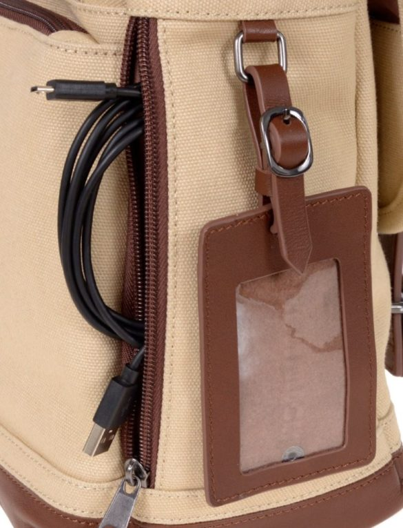 Renwick Messenger Shoulder Bag with RFID Protection E0500 RW Cream tag