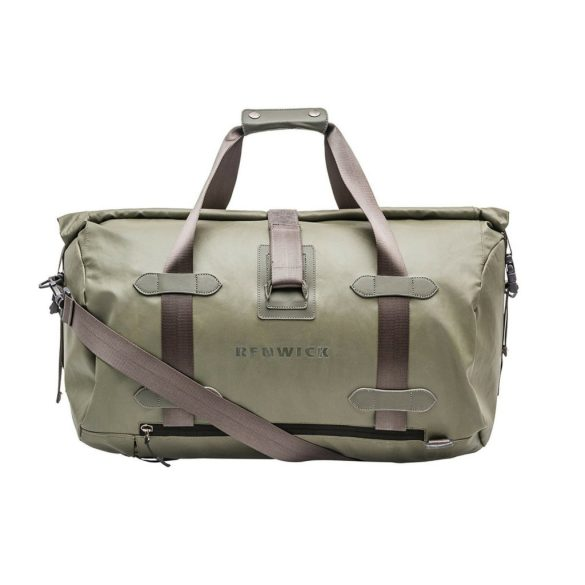 Renwick Travel Roll Top Duffel Bag with Backpack Straps B0380 RW Green Front