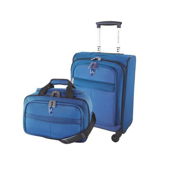Atlantic Essential 2-Piece Set Travel Tote and 18 inch Carry-On AL18202 Blue