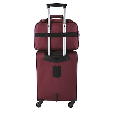 Atlantic Essential 2-Piece Set Travel Tote and 18 inch Carry-On AL18202 Burgundy Back