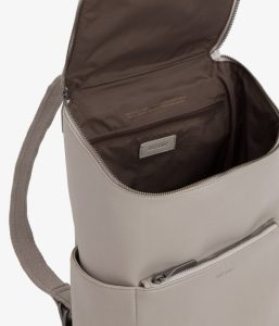Matt and Nat Brave Backpack Dwell Collection Cement Inside