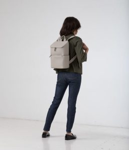 Matt and Nat Brave Backpack Dwell Collection Cement Model back