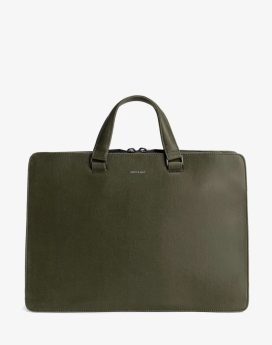 Matt and Nat David Briefcase Vintage Collection Olive Front