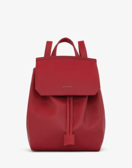 Matt and Nat Mumbai SM Backpack Dwell Collection Red Front