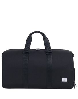 Herschel Novel Duffle Mid-Volume Black Black Synthetic Leather Front