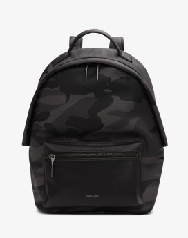 Matt and Nat Bali Backpack Camo Collection Black Camo Front