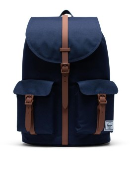 Herschel Supply Co Dawson Backpack Peacoat Saddle Brown Front 1