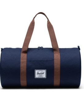 Herschel Supply Co Sutton Duffle Mid-Volume Peacoat Saddle Brown Front 2