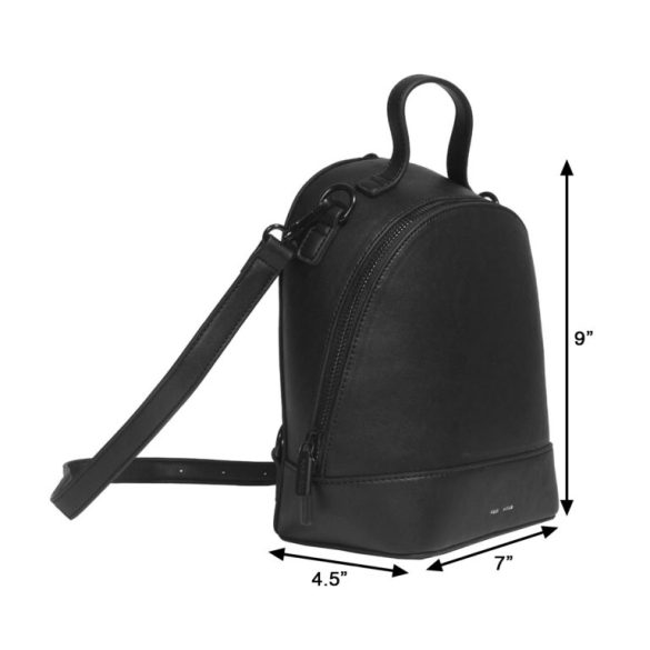 Pixie Mood Cora Small Backpack Black Dimensions