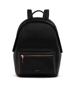 Matt and Nat Bali Backpack Loom Collection Black Rose Gold Front