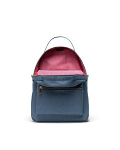 Herschel Supply Co Nova Backpack Mid-Volume Blue Mirage Crosshatch Open