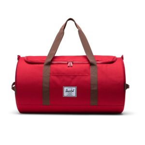 Herschel Supply Co Sutton Duffle Red Saddle Brown Front 1