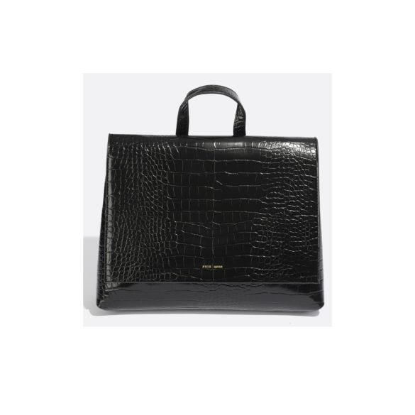 Pixie Mood Janice Small Backpack Black Croc Front 1