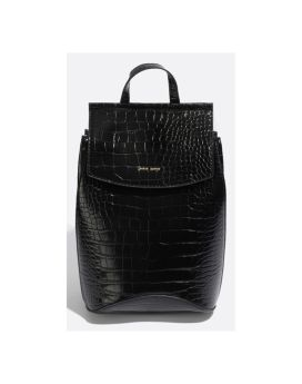 Pixie Mood Kim Mini Backpack Black Croc Front 1