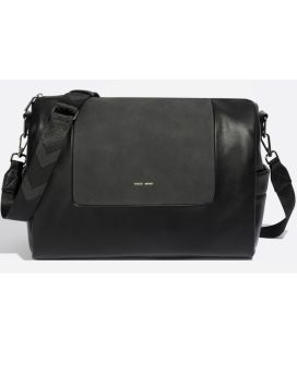 Pixie Mood Olivia Crossbody Black Nubuck Front 1