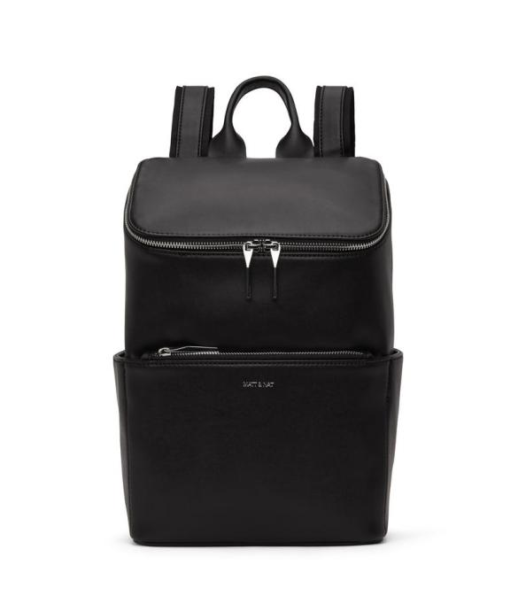 Matt and Nat Brave Backpack Loom Collection Black Shiny Nickel Front