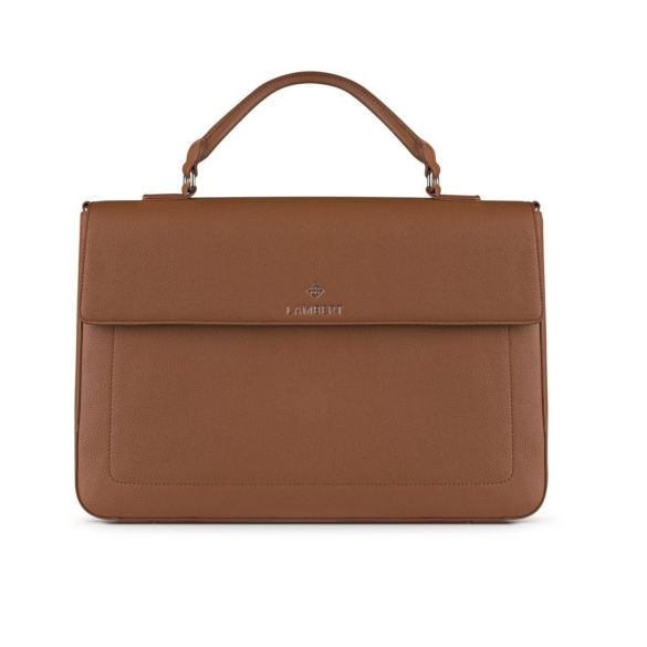 Lambert Alex Briefcase Tan Front 1