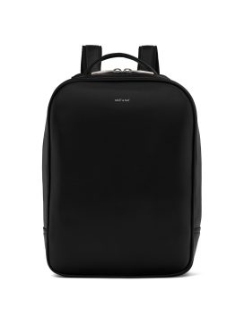 Matt and Nat Alex Backpack Loom Collection Black Shiny Nickel Front