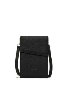 Matt and Nat Met Crossbody Wallet Purity Collection Black Front