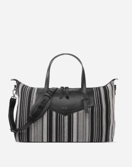 Pixie Mood Riley Weekender Black & White Woven Front