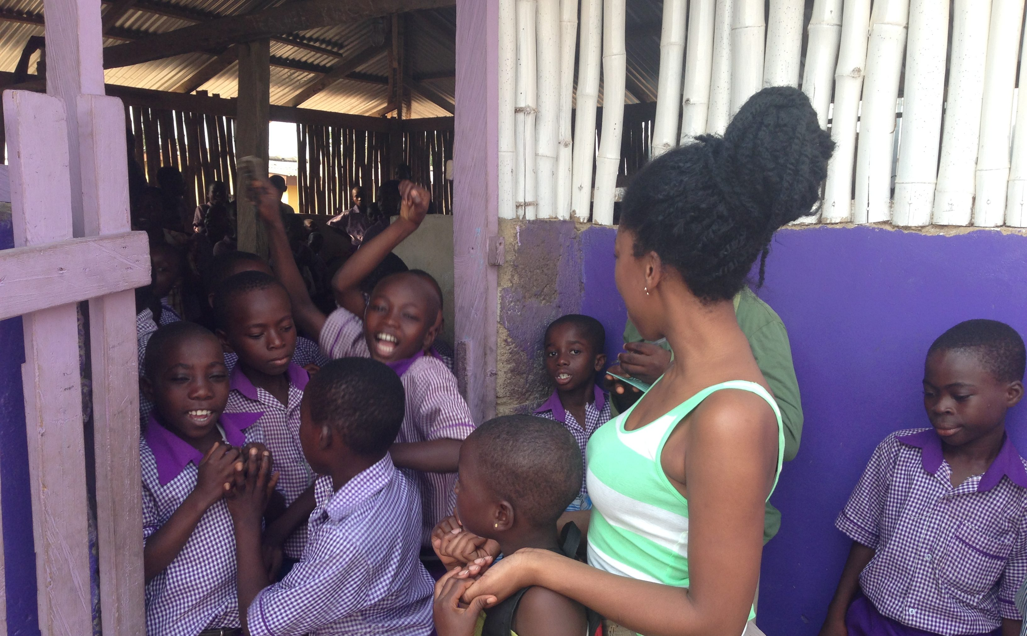 Image result for black people visiting an orphanage