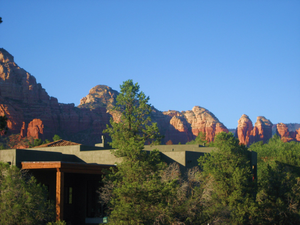 The view from our balcony at Alma de Sedona