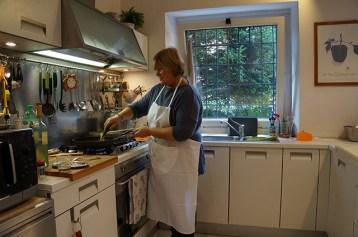 Daniela in her kitchen