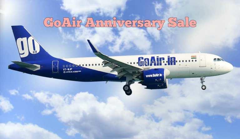 GoAir Anniversary Sale Offer