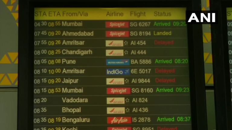 flights diverted delayed