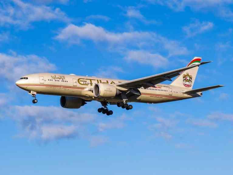 Etihad Airways flight UAE Israel