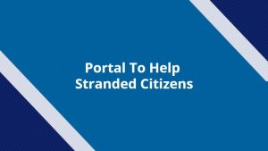 portal to help stranded citizens
