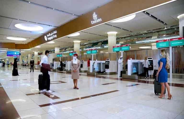 Emirates self check-in Dubai