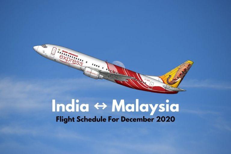 Air India Express Malaysia December