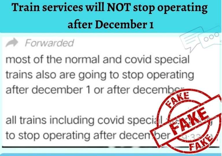 Train Services To Stop After December 1