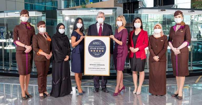 Etihad Airways Apex Five Star Rating