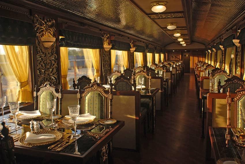 Mayur Mahal Dining in Maharaja's Express