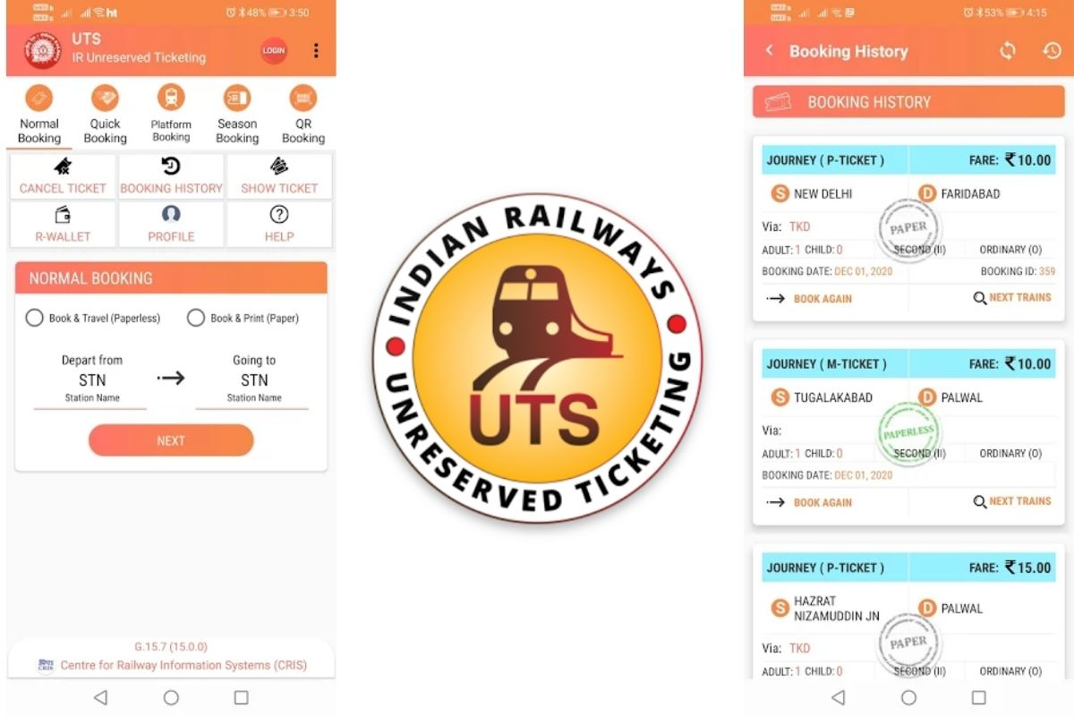 Indian Railways Unreserved Tickets Mobile App
