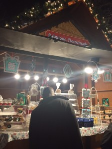 Browsing the stalls at the Christmas market