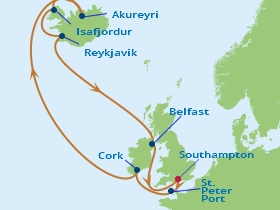Celebrity Cruiseline's Iceland & Ireland cruise