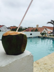 Dreaming about fresh coconut water and the refreshing pool at Hotel Bantu!