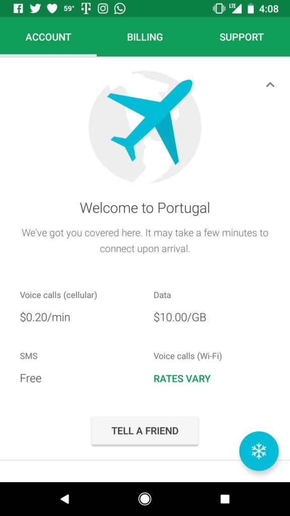 Google Fi in Portugal