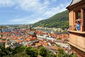 River cruising small towns