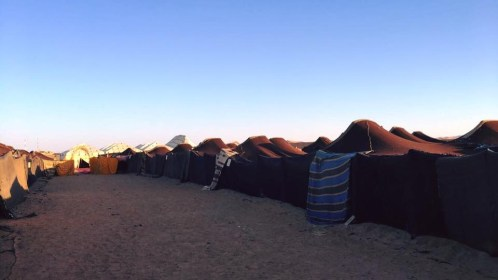 Our communal tents