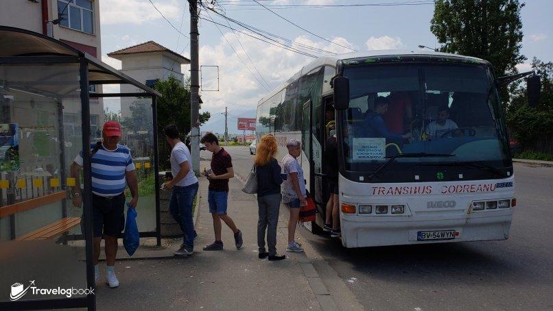 由Rasnov返回Brasov巴士票價5 lei/人。