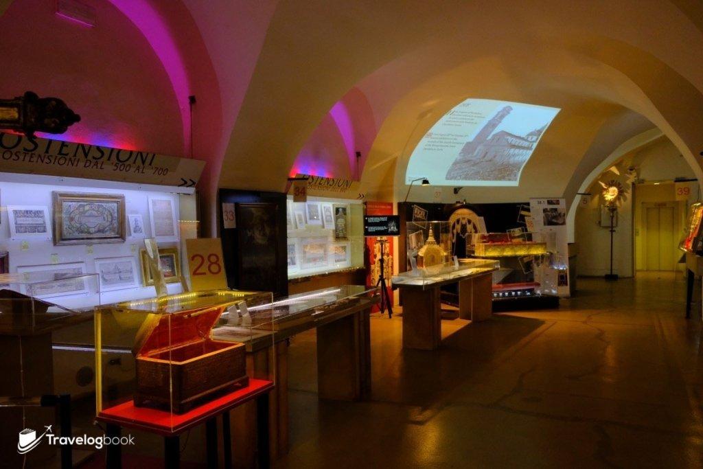 Museum of the Shroud地下展館一隅。