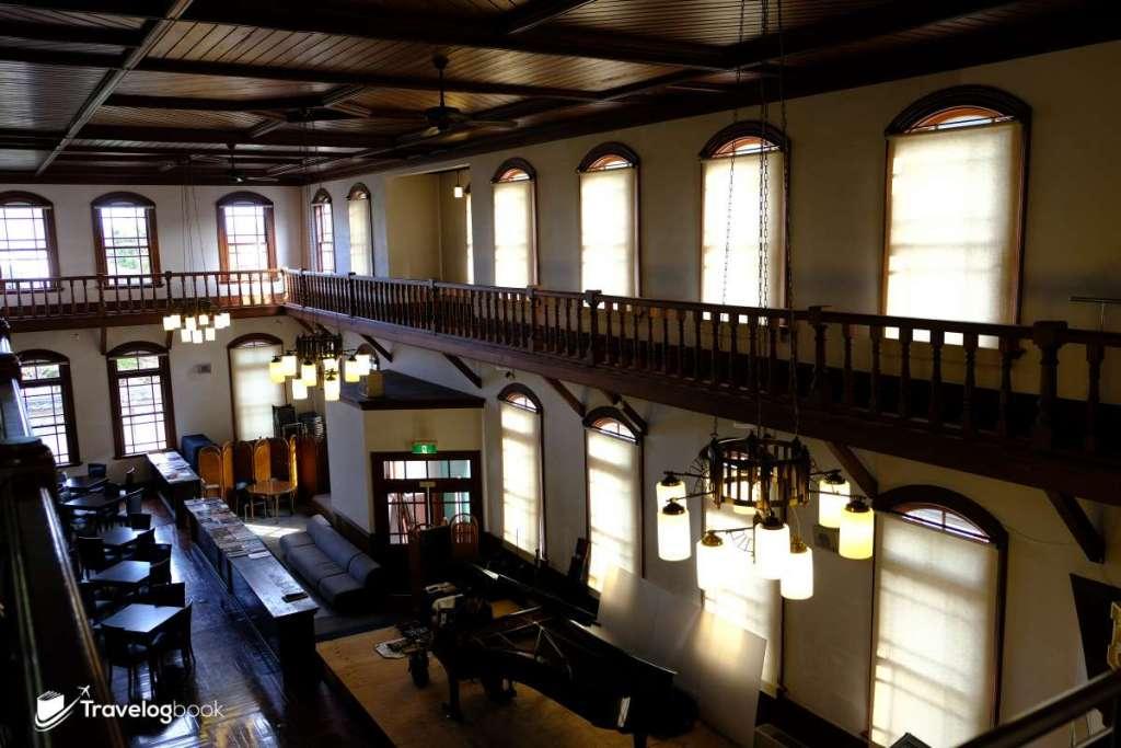 「舊古賀銀行」內部。