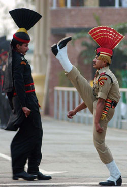 Indian soldier during the ceremony